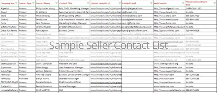 Amazon Seller contact list