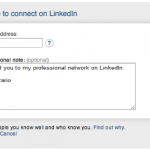 Linkedin Connection Request asking for email address