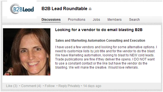 Contribute on LinkedIn Groups - B2B Sales Leads
