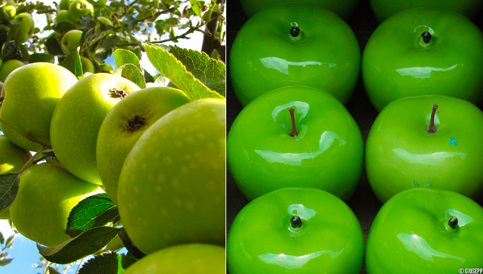 Real Apples vs Glass Apples