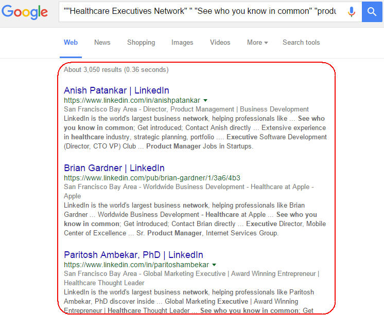 Search results for Helathcare Executives