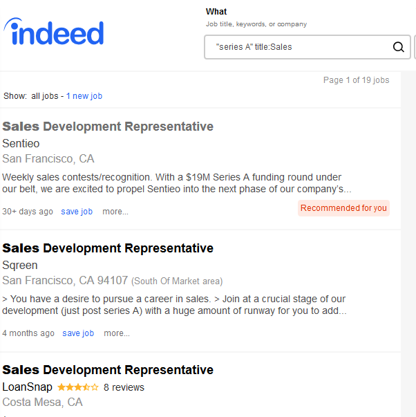 Sales development representative jobs from indeed