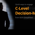 c-level decision makers from b2b companies