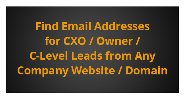 CEO and CFO Email Addresses | Find Email Addresses for CXO
